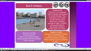 1b) An introduction to tourism- types of holidays presentation image