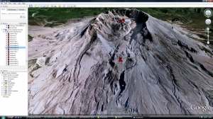 World volcanoes Google earth tour image
