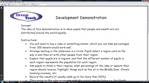 1a) Development demonstration- teacher instructions image