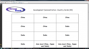 1c) Development demonstration- 30 card class set image