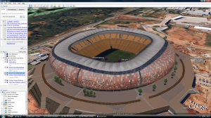 World Cup 2010 Google Earth grounds tour image