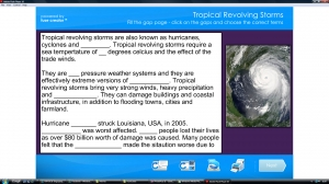 Tropical revolving storms-Hurricane Katrina activities