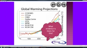 b) Climate change question time image