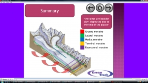 3e) Glacial features- moraines presentation image