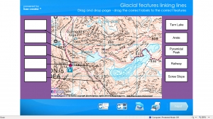 Glacial features- OS map match up game image