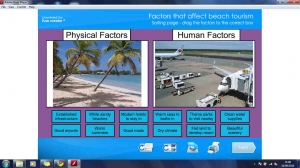Factors that affect beach tourism game
