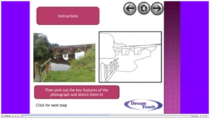 8c) Other skills- field sketching/ sketching photographs presentation image