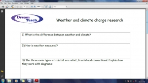 WCC1 Weather and climate change research homework image
