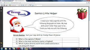 Christmas mapwork worksheet- harder image