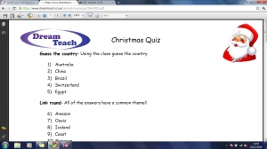 Christmas quiz answers