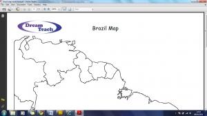 1d) Blank Brazil Map