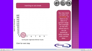 2f) Earthquakes- scatter graph presentation for use with magnitude worksheet