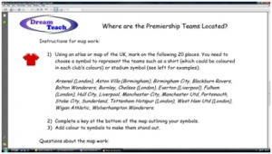 English Premier League- where do the players come from worksheet image
