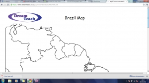 h) Blank Brazil map