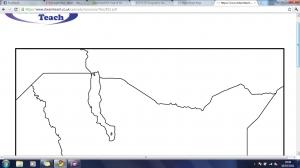 j) Blank Kenya map