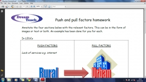 POP6 Push and pull factors homework image