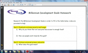 DEV3 Millennium Development Goals homework image