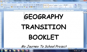 c) Transition booklet Word file