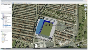 English Premier League- new ground development- Google Earth tour image