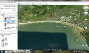 North Wales coastline Google Earth tour
