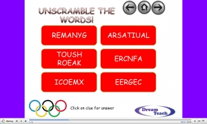 Olympic host country anagrams image