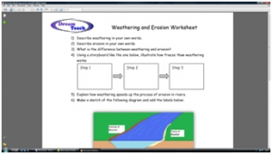 2c) River basics- weathering and erosion worksheet image
