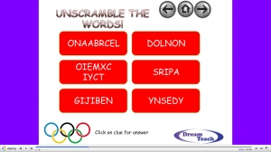 Olympic host city anagrams image