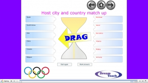 Olympic host country and city match up image