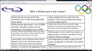 c) Olympics 2012- Why is Wilson such a fast runner mystery clue cards image