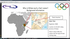 b) Olympics 2012-Why is Wilson such a fast runner mystery background information sheet image