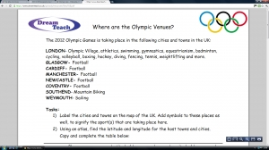 Olympic 2012 venues mapwork image