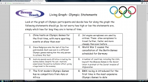 Olympic living graphs- statements and answers image
