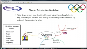 Olympics 2012- Introduction worksheet image