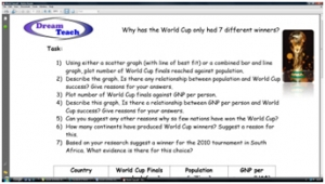 World Cup 2010- standard worksheet image
