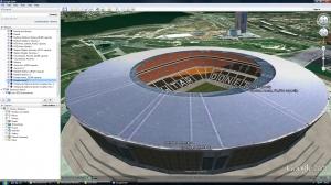 Euro 2012 stadia Google Earth tour
