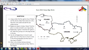 Euro 2012 venue map work image