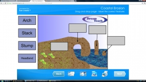 Coastal erosion and landforms- activities image