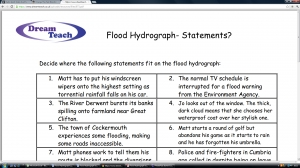 1a) Flood hydrograph living graph statements