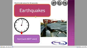 Talk about earthquakes and volcanoes