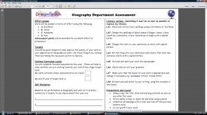 p) KS3 assessment guidelines for pupils- PDF image